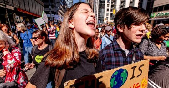Climate lessons from the classroom spill into the streets